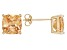 Bella Luce ® 7ctw Champagne Diamond Simulant 18kt Gold Over Silver Earrings
