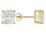 Bella Luce ® 11ctw Cushion Diamond Simulant 18kt Gold Over Silver Earrings