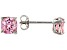 Bella Luce ® 5ctw Cushion Pink Diamond Simulant Rhodium Over Silver Earrings