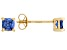 Bella Luce ® 1ctw Cushion Tanzanite Simulant 18kt Gold Over Silver Earrings