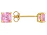 Bella Luce ® 2ctw Pink Diamond Simulant 18kt Yellow Gold Over Silver Earrings