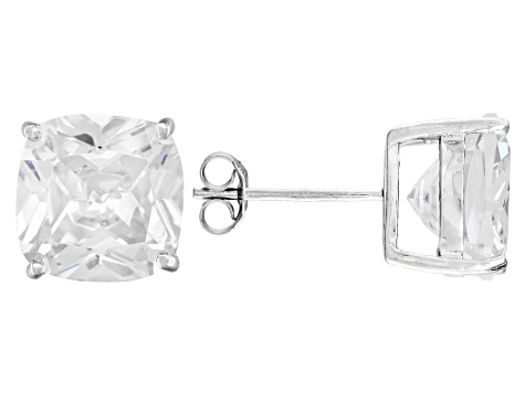 801c2b4ab Bella Luce 13ctw Cushion Diamond Simulant Rhodium Over Silver. Diamond  Veneer Sterling Silver Dancing Simulant Round Earring In Perpetial Motion