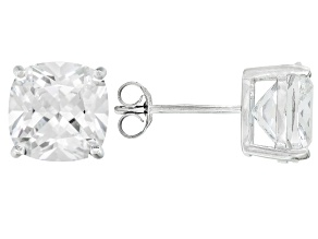 Bella Luce ® 11tw Cushion Diamond Simulant Rhodium Over Silver Earrings