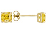 Bella Luce ® 2ctw Yellow Diamond Simulant 18kt Yellow Gold Over Silver Earrings
