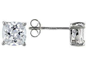Bella Luce ® 3ctw Cushion Diamond Simulant Rhodium Over Silver Earrings