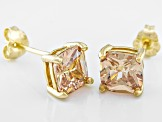 Bella Luce ® 3ctw Champagne Diamond Simulant 18kt Gold Over Silver Earrings