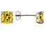 Bella Luce ® 5ctw Cushion Yellow Diamond Simulant Rhodium Over Silver Earrings