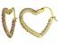 Bella Luce® 2.88ctw Pink Diamond Simulant 18k Over Silver Heart Hoop Earrings