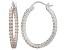 Bella Luce® 3.72ctw Champagne Diamond Simulant Silver Hoop Earrings