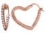 Bella Luce® 3.84ctw Diamond Simulant 18k Rose Gold Over Silver Hoop Earrings