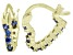 Bella Luce® 1.20ctw Tanzanite Simulant 18k Over Silver Heart Shape Hoop Earrings