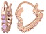 Bella Luce® 1.20ctw Pink Diamond Simulant 18k Gold Over Silver Hoop Earrings