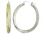 Bella Luce® 4.92ctw Yellow Diamond Simulant Rhodium Over Silver Hoop Earrings
