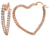 Bella Luce® 4.80ctw Diamond Simulant 18k Rose Gold Over Silver Hoop Earrings