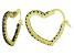 Bella Luce® 2.88ctw Tanzanite Simulant 18k Over Silver Heart Shape Hoop Earrings