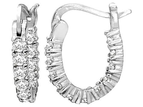 79b7d87be Bella Luce® 1.32ctw Diamond Simulant Rhodium Over Silver Oval Hoop Earrings  - BVL333 | JTV.com