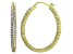 Bella Luce® 5.52ctw Diamond Simulant 18k Over Silver Oval Hoop Earrings