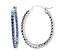 Bella Luce® 3.72ctw Tanzanite Simulant Rhodium Over Silver Oval Hoop Earrings
