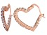 Bella Luce® 2.52ctw Diamond Simulant 18k Rose Gold Over Silver Hoop Earrings