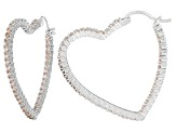 Bella Luce® 5.40ctw Champagne Diamond Simulant Silver Hoop Earrings