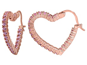 Bella Luce® 2.88ctw Pink Diamond Simulan 18k Gold Over Silver Hoop Earrings