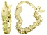 Bella Luce® 1.20ctw Yellow Diamond Simulant 18k Over Silver Hoop Earrings