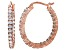 Bella Luce® 3.00ctw Diamond Simulant 18k Rose Gold Over Silver Hoop Earrings