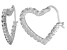 Bella Luce® 2.88ctw Diamond Simulant Rhodium Over Silver Heart Hoop Earrings