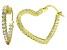 Bella Luce® 3.84ctw Diamond Simulant 18k Over Silver Heart Shape Hoop Earrings