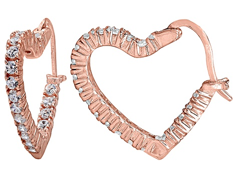 Bella Luce® 2.88ctw Diamond Simulant 18k Rose Gold Over Silver Hoop Earrings