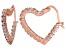 Bella Luce® 2.88ctw Diamond Simulant 18k Rose Gold Over Silver Hoop Earrings