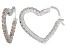 Bella Luce® 2.88ctw Champagne Diamond Simulant Silver Hoop Earrings