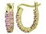 Bella Luce® 1.32ctw Pink Diamond Simulant 18k Over Silver Oval Hoop Earrings