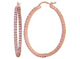 Bella Luce® 4.92ctw Pink Diamond Simulant 18k Gold Over Silver Hoop Earrings