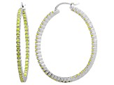 Bella Luce® 6.00ctw Yellow Diamond Simulant Rhodium Over Silver Hoop Earrings