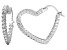 Bella Luce® 3.84ctw Diamond Simulant Rhodium Over Silver Heart Hoop Earrings