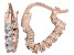 Bella Luce® 1.20ctw Diamond Simulant 18k Rose Gold Over Silver Hoop Earrings