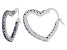 Bella Luce® 2.88ctw Tanzanite Simulant Rhodium Over Silver Heart Hoop Earrings