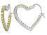 Bella Luce® 2.88ctw Yellow Diamond Simulant Rhodium Over Silver Hoop Earrings