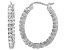 Bella Luce® 3.00ctw Diamond Simulant Rhodium Over Silver Oval Hoop Earrings