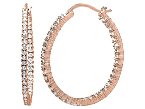 Bella Luce® 5.52ctw Diamond Simulant 18k Rose Gold Over Silver Hoop Earrings