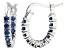 Bella Luce® 1.32ctw Tanzanite Simulant Rhodium Over Silver Oval Hoop Earrings