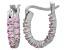 Bella Luce® 1.32ctw Pink Diamond Simulant Silver Oval Hoop Earrings
