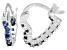 Bella Luce® 1.20ctw Tanzanite Simulant Rhodium Over Silver Heart Hoop Earrings