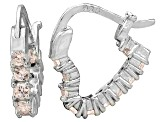 Bella Luce® 1.20ctw Champagne Diamond Simulant Silver Hoop Earrings