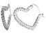 Bella Luce® 2.52ctw Diamond Simulant Rhodium Over Silver Heart Hoop Earrings