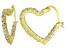 Bella Luce® 2.88ctw Diamond Simulant 18k Over Silver Heart Shape Hoop Earrings