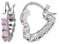 Bella Luce® 1.20ctw Pink Diamond Simulant Silver Heart Hoop Earrings