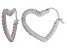 Bella Luce® 2.88ctw Pink Diamond Simulant Silver Heart Hoop Earrings