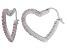 Bella Luce® 2.88ctw Pink Diamond Simulant Silver Heart Hoop Earrings